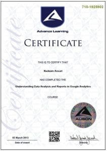 Google Analytics Certificate