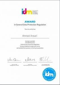 Award GDPR