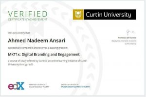 Certificate in Digital Branding and Engagement, Curtin University