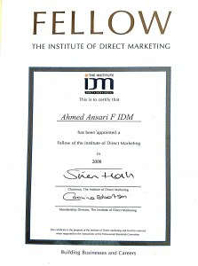 Fellow Institute of Direct and Digital Marketing – F IDM (Member since 2000 – 18 years)
