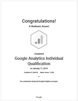 Google Analytics Individual Qualification DoLocal