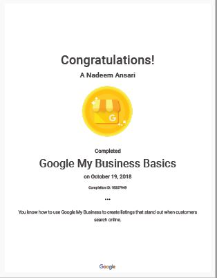 Google My Business Qualifications DoLocal