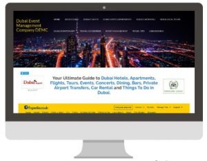 Dubai Event Management Co. website - Desktop Version