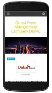 Dubai Event Management Co. Website - Mobile Version