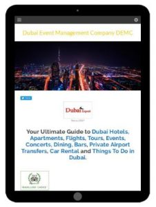 Dubai Event Management Co. Website - Tablet Version
